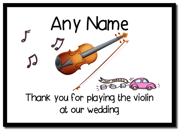 Thank You For Playing The Violin At Our Wedding  Personalised Mousemat