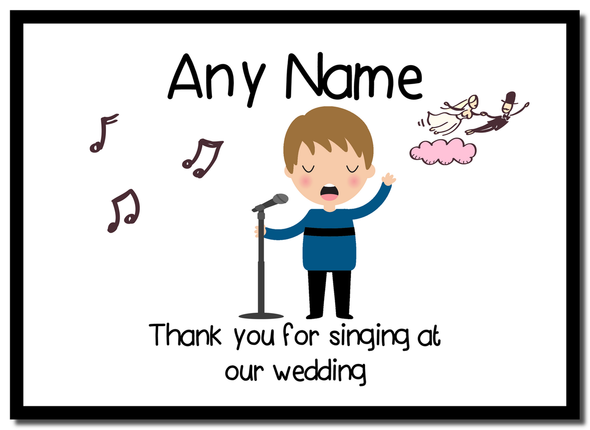 Thank You For Singing At Our Wedding Male  Personalised Mousemat