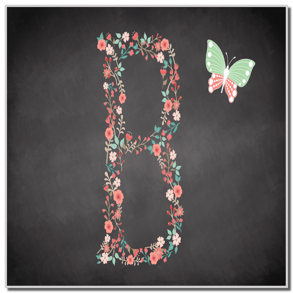 Chalk Letter Initial B Personalised Coaster