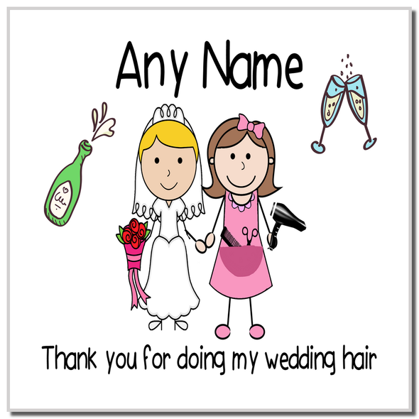 Thank You For Doing My Wedding Hair Personalised Coaster