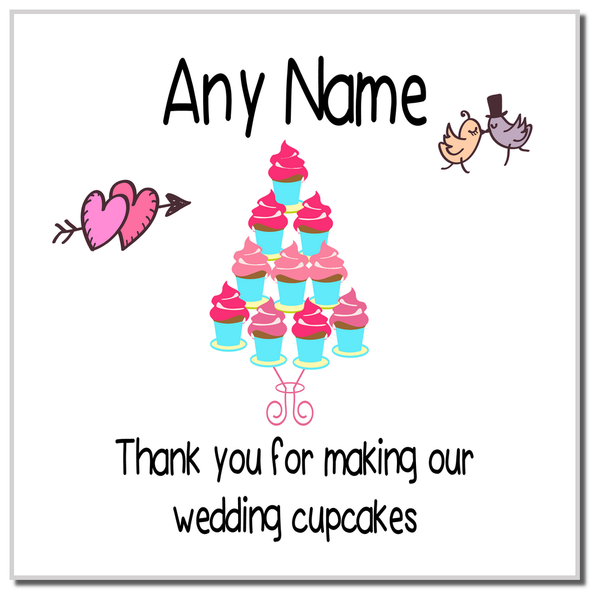 Thank You For Making Our Wedding Cupcakes Personalised Coaster