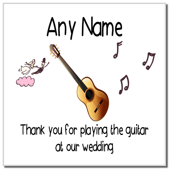 Thank You For Playing The Guitar At Our Wedding Personalised Coaster