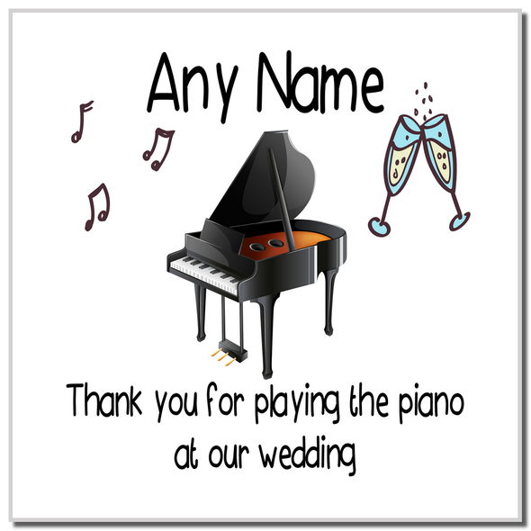 Thank You For Playing The Piano At Our Wedding Personalised Coaster