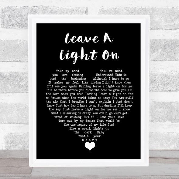 Belinda Carlisle Leave A Light On Black Heart Song Lyric Quote Music Print