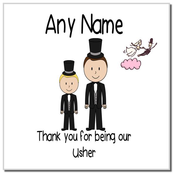 Thank You Usher Personalised Coaster