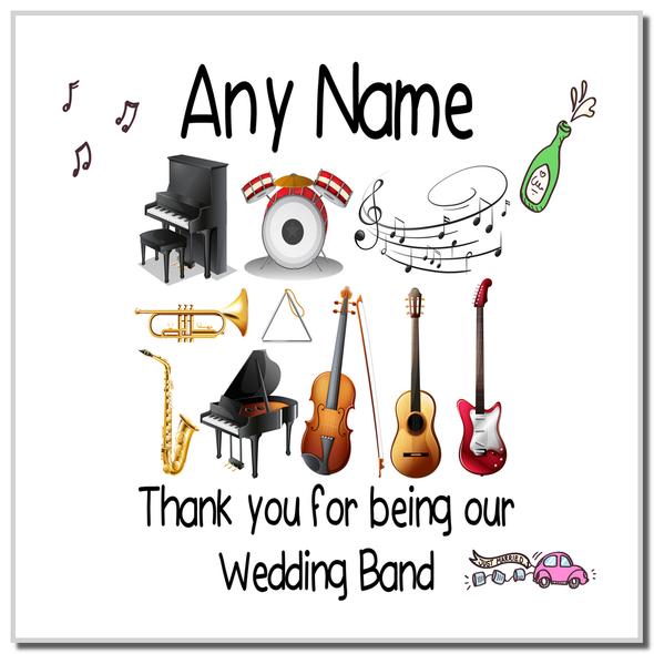 Thank You Wedding Band Personalised Coaster