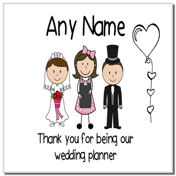 Thank You Wedding Planner Personalised Coaster