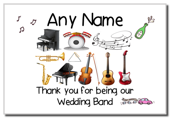 Thank You Wedding Band  Personalised Magnet