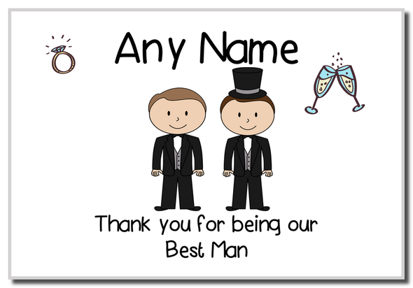Thank You Best Man  Personalised Magnet