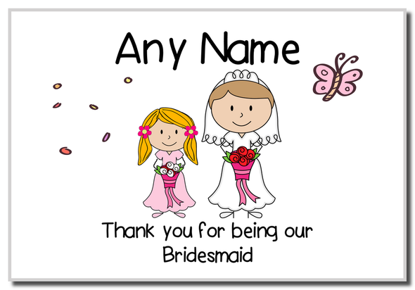 Thank You Bridesmaid  Personalised Magnet