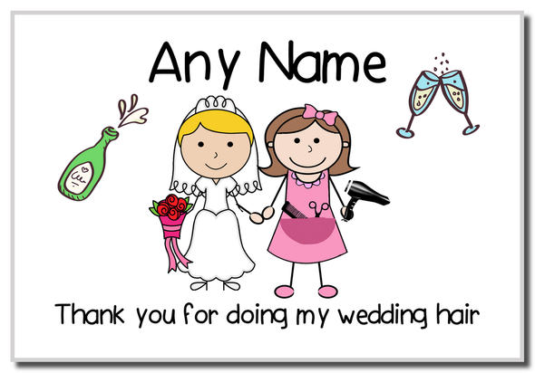 Thank You For Doing My Wedding Hair  Personalised Magnet