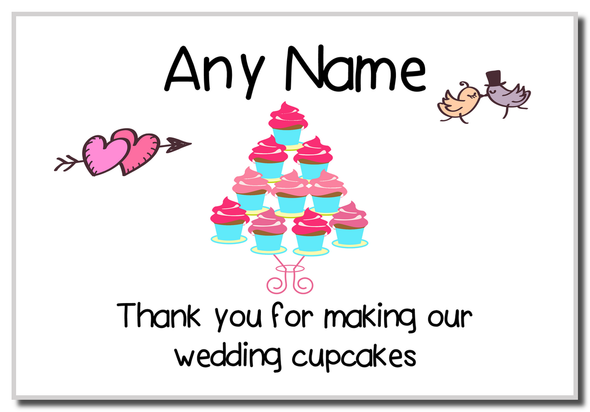 Thank You For Making Our Wedding Cupcakes  Personalised Magnet