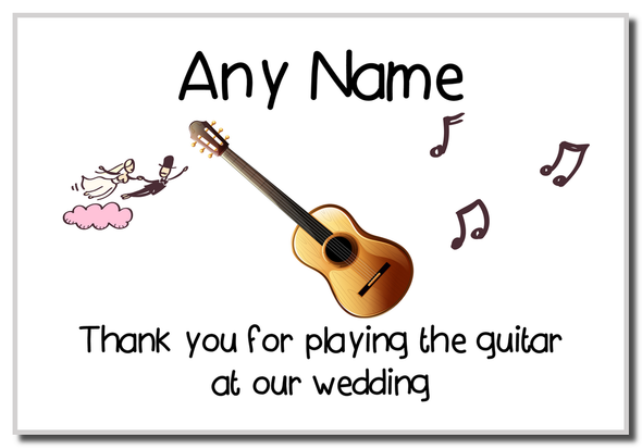 Thank You For Playing The Guitar At Our Wedding  Personalised Magnet