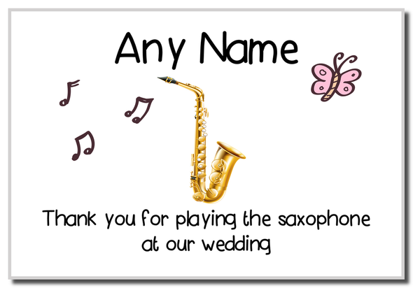 Thank You For Playing The Saxophone At Our Wedding  Personalised Magnet