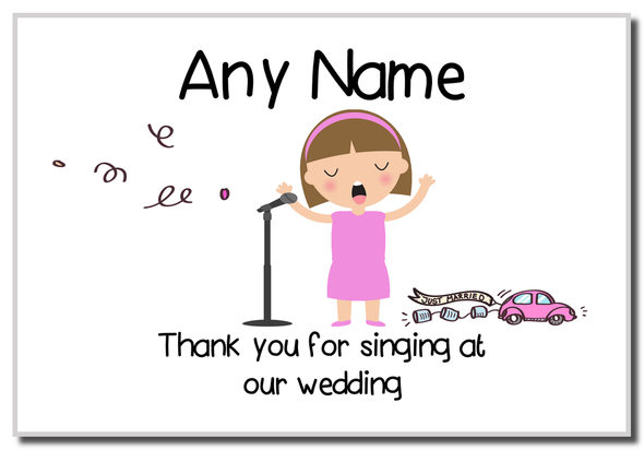 Thank You For Singing At Our Wedding Female  Personalised Magnet