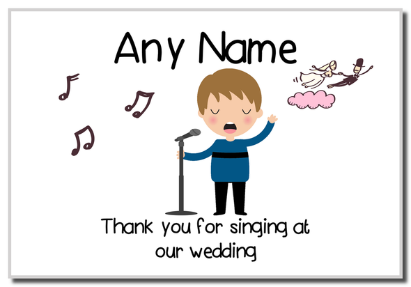 Thank You For Singing At Our Wedding Male  Personalised Magnet