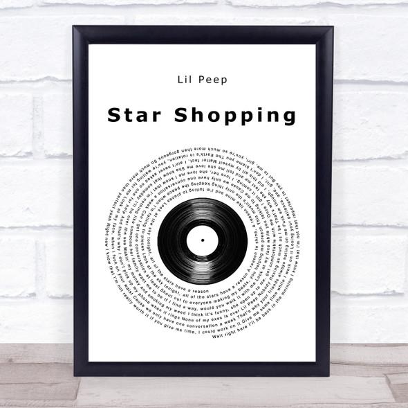 Lil Peep Star Shopping Vinyl Record Song Lyric Quote Music Print