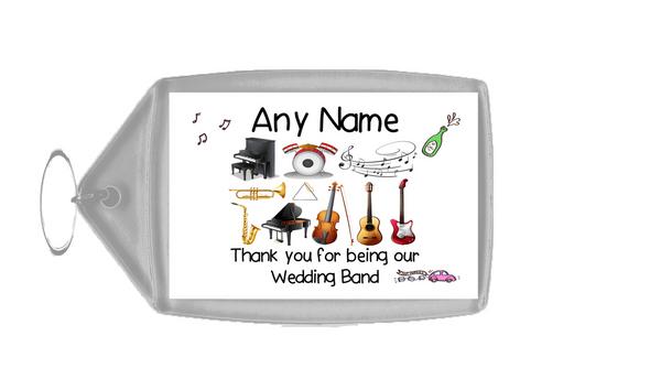 Thank You Wedding Band  Personalised Keyring