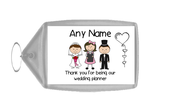 Thank You Wedding Planner  Personalised Keyring