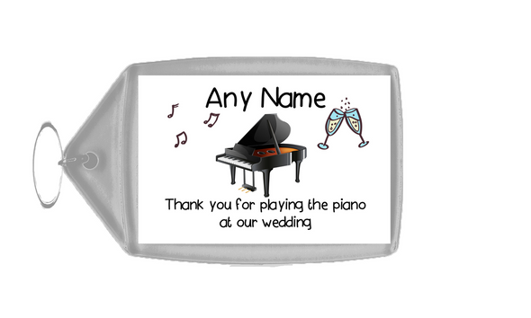 Thank You For Playing The Piano At Our Wedding  Personalised Keyring