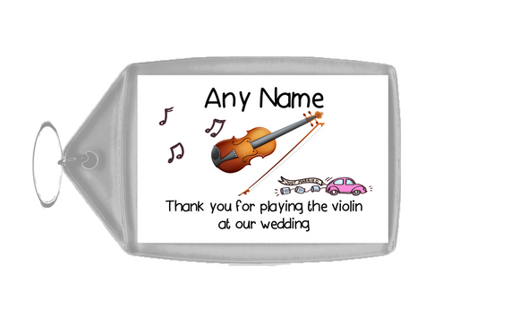 Thank You For Playing The Violin At Our Wedding  Personalised Keyring