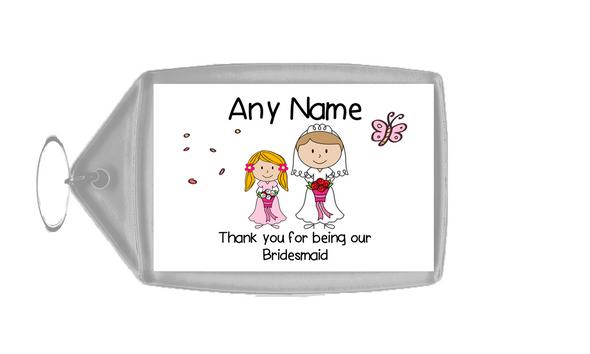 Thank You Bridesmaid  Personalised Keyring