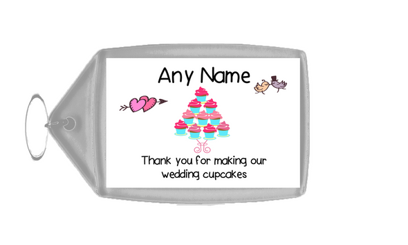 Thank You For Making Our Wedding Cupcakes  Personalised Keyring