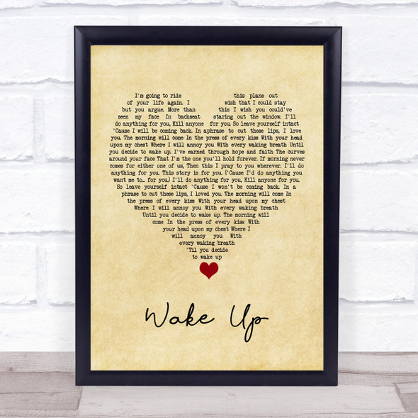 Coheed And Cambria Wake Up Vintage Heart Song Lyric Quote Music Print