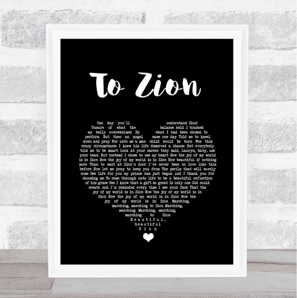Lauryn Hill To Zion Black Heart Song Lyric Quote Music Print