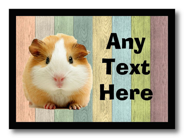 Guinea Pig Coloured Personalised Dinner Table Placemat