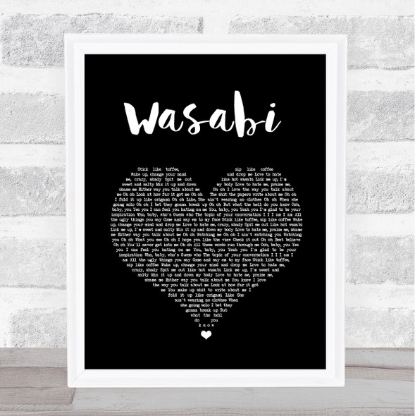 Little Mix Wasabi Black Heart Song Lyric Quote Music Print