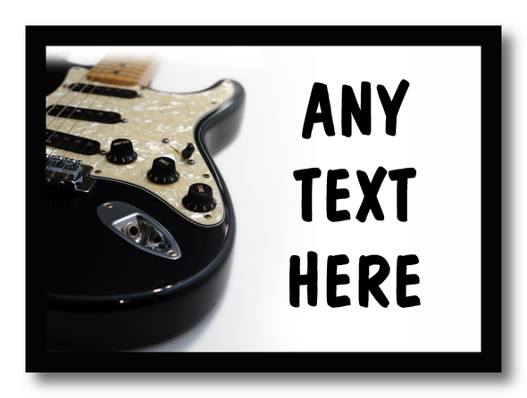 Electric Guitar Personalised Dinner Table Placemat