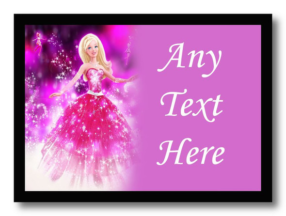 Barbie Personalised Dinner Table Placemat