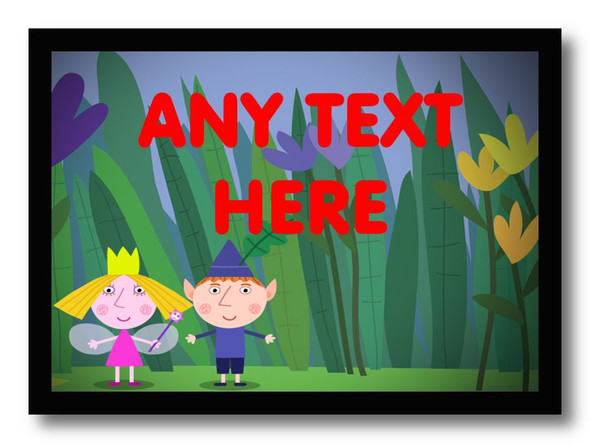 Ben And Holly Personalised Dinner Table Placemat