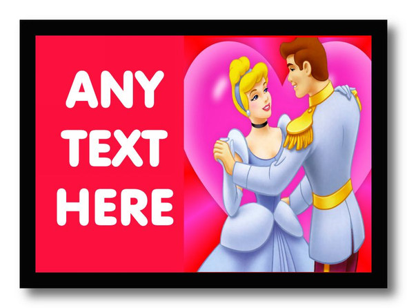Cinderella Personalised Dinner Table Placemat