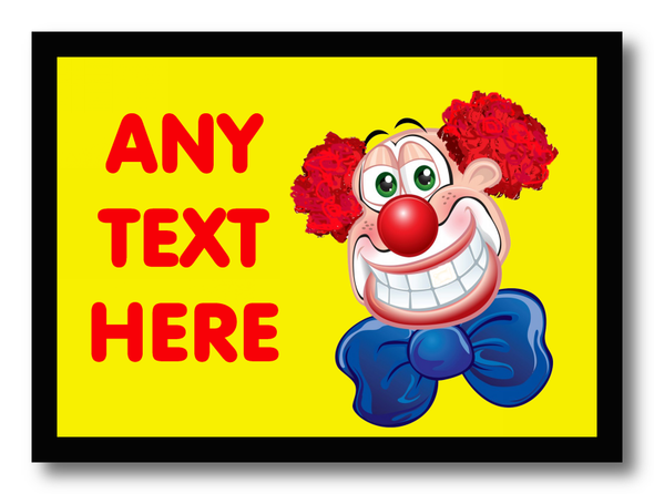 Clown Personalised Dinner Table Placemat