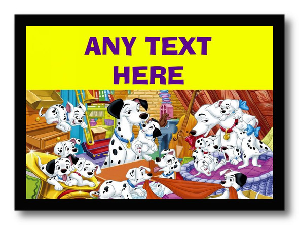 101 Dalmatians Personalised Dinner Table Placemat