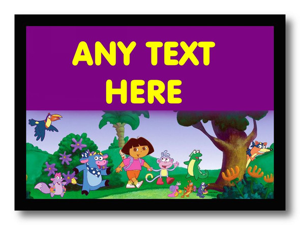 Dora The Explorer Personalised Dinner Table Placemat