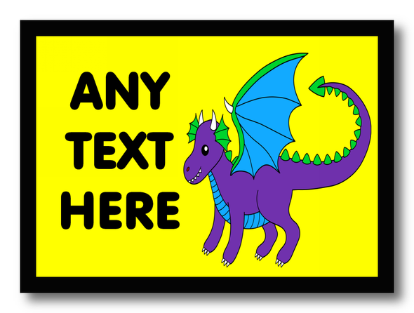 Dragon Personalised Dinner Table Placemat