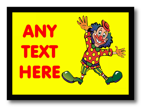 Funny Clown Personalised Dinner Table Placemat