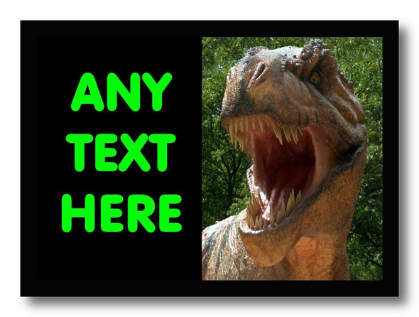 T Rex Dinosaur Personalised Dinner Table Placemat