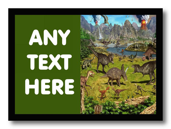 Dinosaur Personalised Dinner Table Placemat