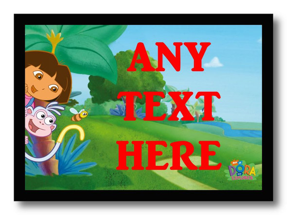 Dora The Explorer And Boots Personalised Dinner Table Placemat