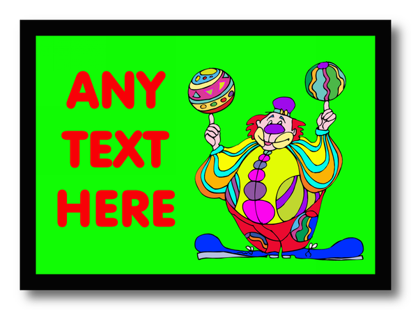 Green Clown Personalised Dinner Table Placemat