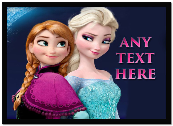Elsa And Anna Frozen Personalised Dinner Table Placemat