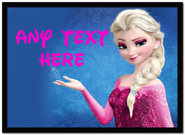Elsa Frozen Pink Personalised Dinner Table Placemat