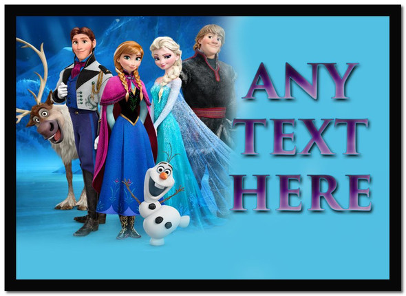 Frozen Anna Elsa Olaf Personalised Dinner Table Placemat
