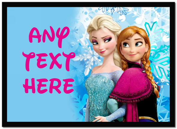 Frozen Anna And Elsa Personalised Dinner Table Placemat