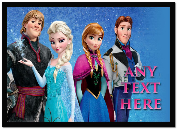 Frozen Characters Personalised Dinner Table Placemat