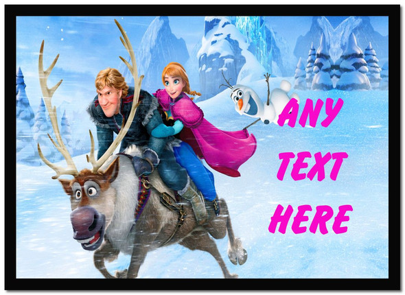 Frozen Personalised Dinner Table Placemat